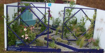 Cambridgeshire's Anna McArthur's winning garden design at the RHS Hampton Court Place Flower Show